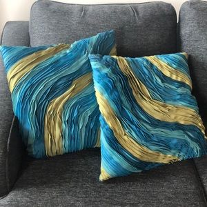 Wave Textured Throw Pillows